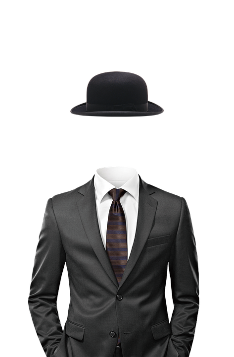 Invisible man with a top hat