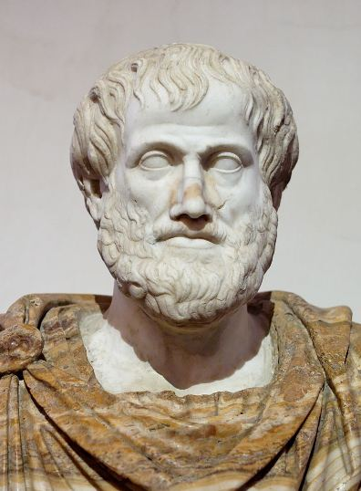 A marble statue of Aristotle